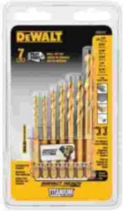 DEWALT Drill Bit Set, Impact Ready, Titanium, 7-Piece (DD5157)
