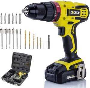 CACOOP 20v cordless hammer drill set