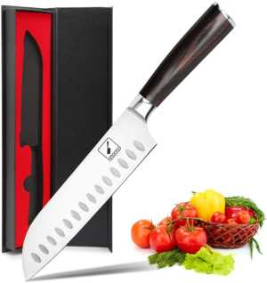 Santoku Knife - Imarku 7 Inch Kitchen Knife Ultra Sharp