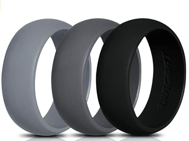 Swagmat Silicone Wedding Ring for Men and Women