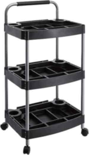 AmazonBasics 3-Tier Utility Cart - Plastic