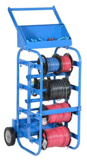 Vestil WIRE-D-E Steel Economy Wheel Wire Reel Caddy